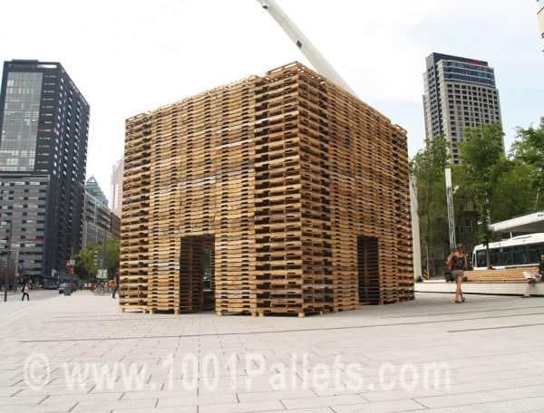 800 Pallets Installation by Justin Duchesneau & Phil Allard Pallet Store, Bar & Restaurant Decorations