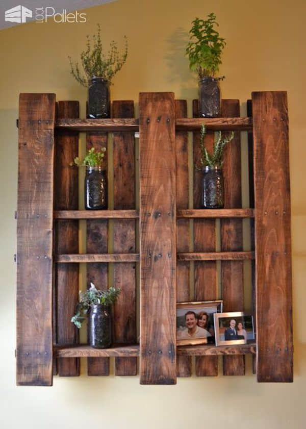 How to Hang a Pallet on Your Wall Pallet Shelves & Pallet Coat Hangers