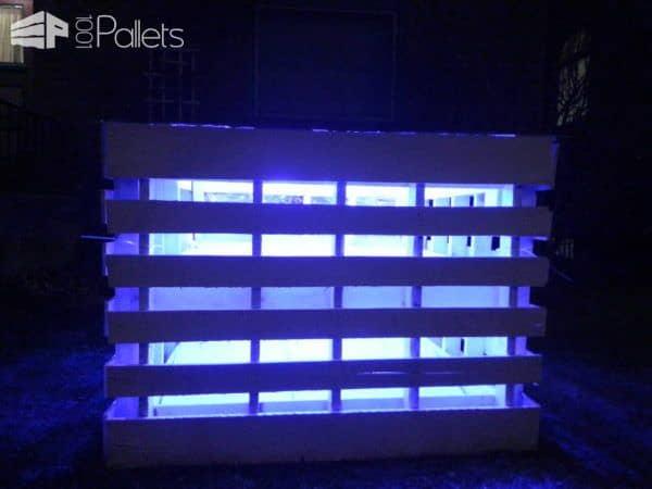 Pallet Light Box – Fireplace or Postmodern Nativity Scene Lounges & Garden Sets Pallet Lamps & Lights