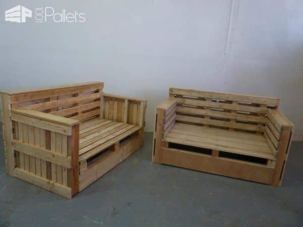 Pallet Sofa & Armchair from Repurposed Pallets Pallet Benches, Pallet Chairs & Stools Pallet Sofas & Couches