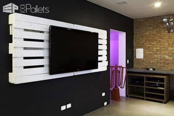 Pallet Wall TV Holder Pallet TV Stands & Racks