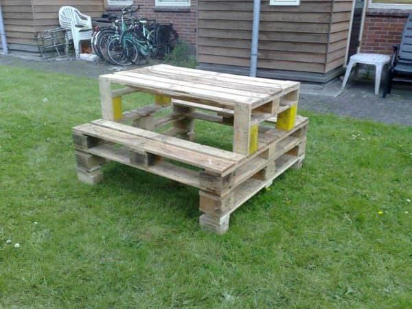 Pallets Picnic Table Lounges & Garden Sets Pallet Desks & Pallet Tables
