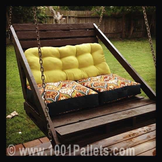 Porch Swing From Pallets Lounges & Garden Sets Pallet Benches, Pallet Chairs & Stools