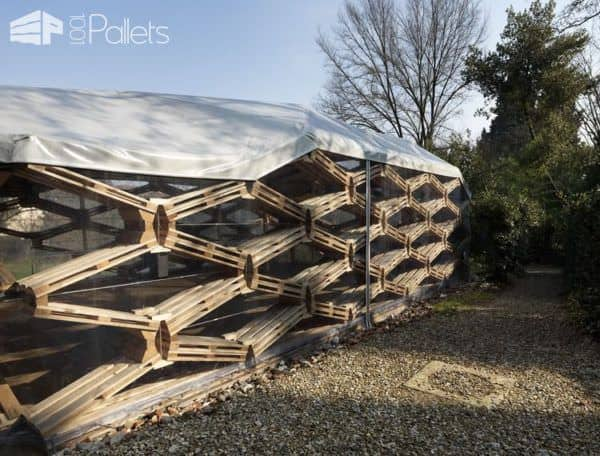 Recycled Pallet Pavilion Pallet Sheds, Cabins, Huts & Playhouses