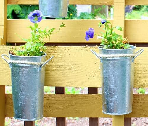 Small Space Vertical Garden with Pallet Pallet Planters & Compost Bins