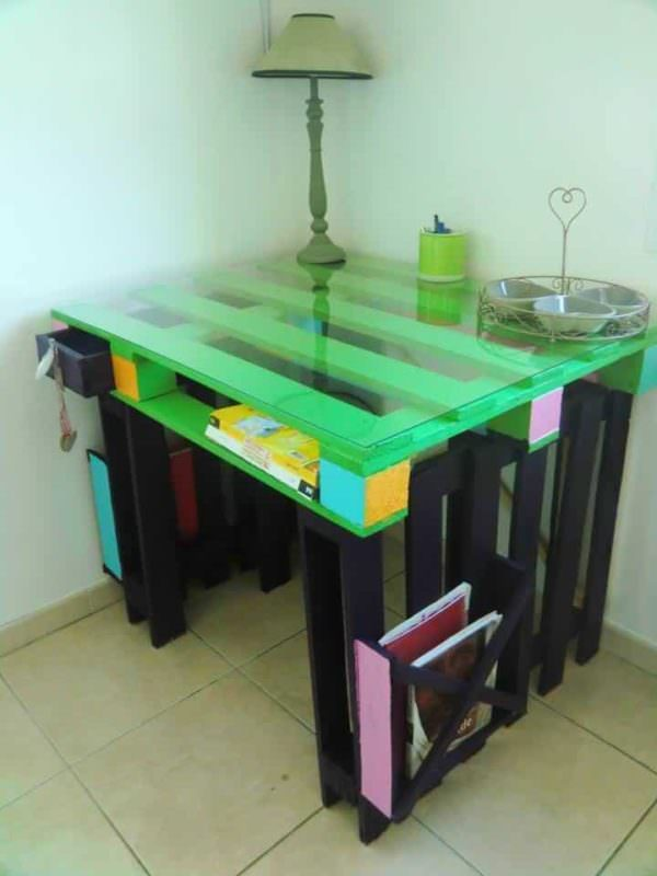 Desk Entirely Made From Repurposed Pallets Pallet Desks & Pallet Tables