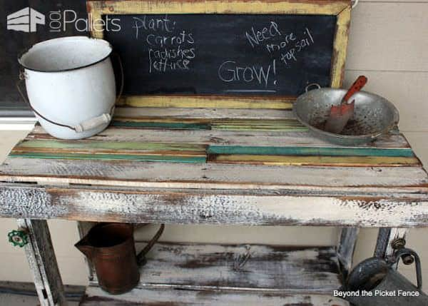 Pallet Potting Table Lounges & Garden Sets Pallet Desks & Pallet Tables