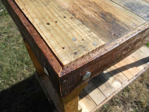 Reclaimed Pallet Wood Table Pallet Desks & Pallet Tables