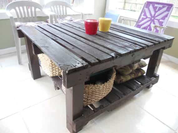 Upcycled Pallet Table Pallet Desks & Pallet Tables