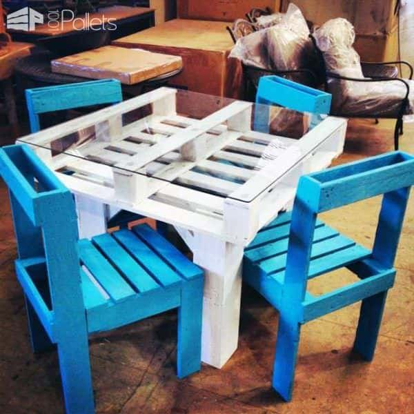 Diy: Dining Set From Recycled Pallets Lounges & Garden Sets