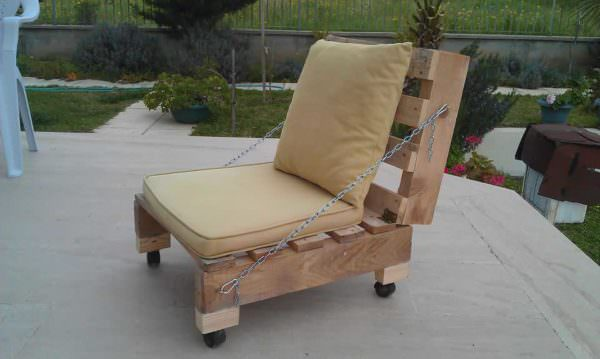 Pallet Garden Chair Lounges & Garden Sets Pallet Benches, Pallet Chairs & Stools