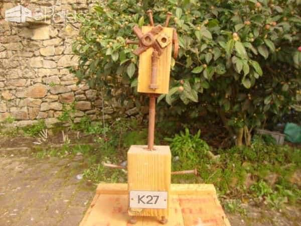 Pallet Robots Fun Pallet Crafts for Kids Pallet Home Accessories