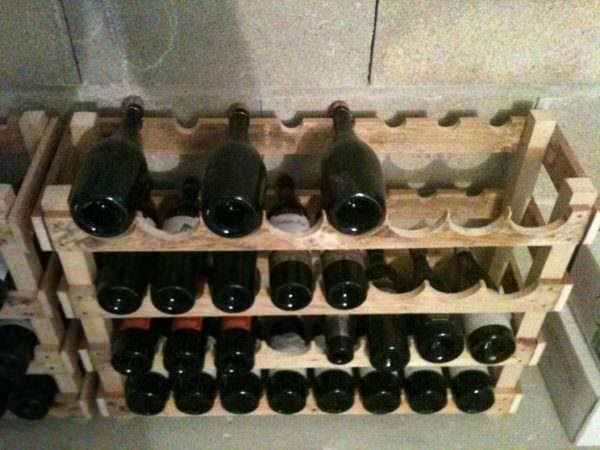 Pallet Wine Storage Racking System Pallet Shelves & Pallet Coat Hangers