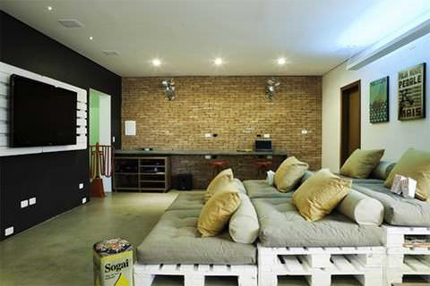Pallets Home Theater Seating Pallet Sofas & Couches