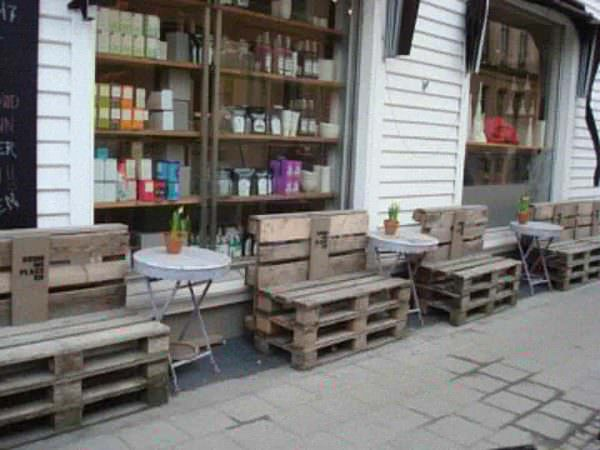 Pallets Street Installation in Kristiansand, Norway Pallet Benches, Pallet Chairs & Stools