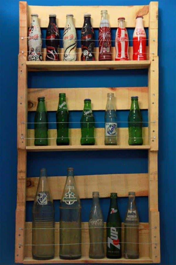 Rural Pop – Pallet Bottle Rack Pallet Desks & Pallet Tables Pallet Shelves & Pallet Coat Hangers