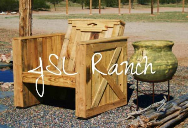 Southwestern Pallet Lounge Chair Pallet Benches, Pallet Chairs & Stools