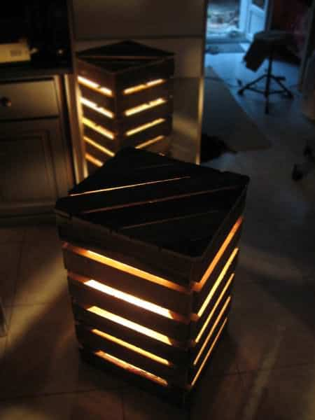 Upcycled Pallet Cube Light Pallet Lamps & Lights