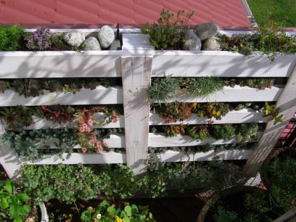 Upcycled Pallet Into Vertical Garden Pallet Planters & Compost Bins