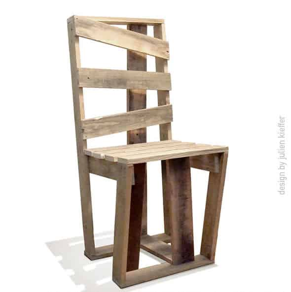 Crate Chair Made With Recycled Pallets Pallet Benches, Pallet Chairs & Stools