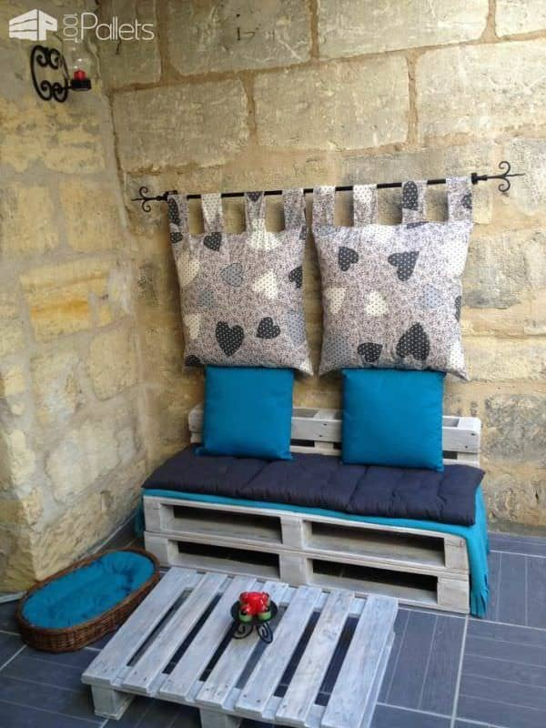 Creative Upcycled Pallet Corner Couch Pallet Sofas & Couches Pallet Terraces & Pallet Patios