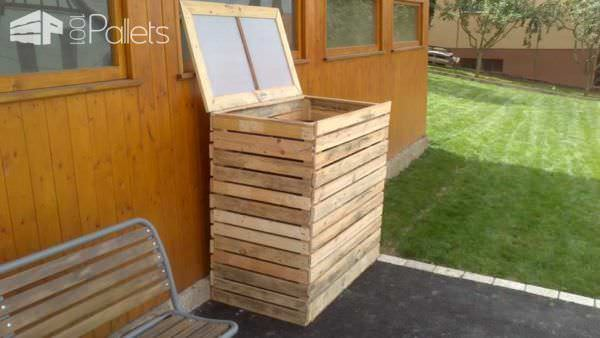 Pallet Garbage Bin Shelter Pallet Boxes & Chests