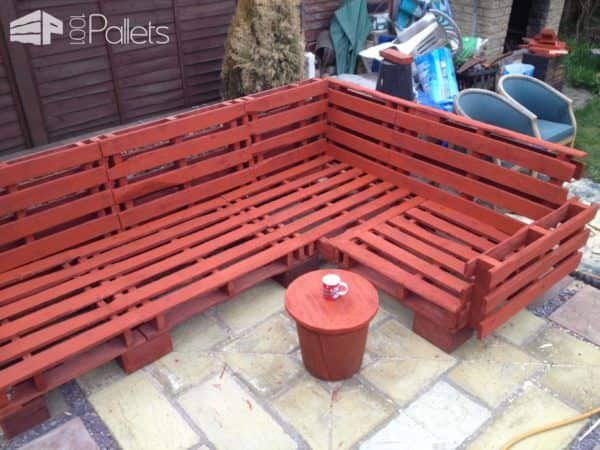 Pallet Outdoor Sofa Lounges & Garden Sets Pallet Sofas & Couches