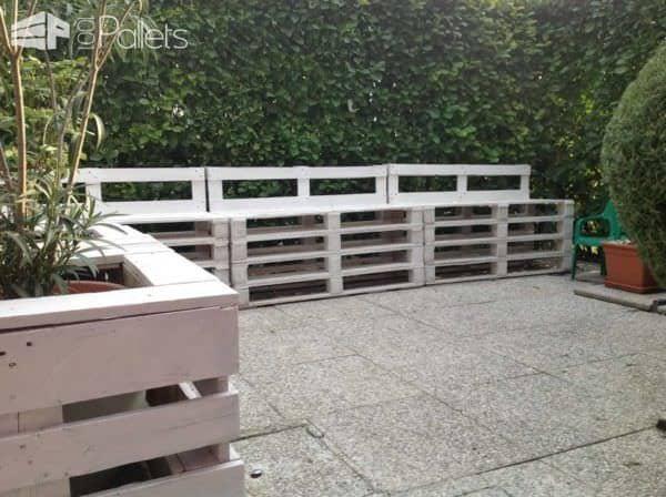 Pallet Sofa & Planter in the Garden Lounges & Garden Sets