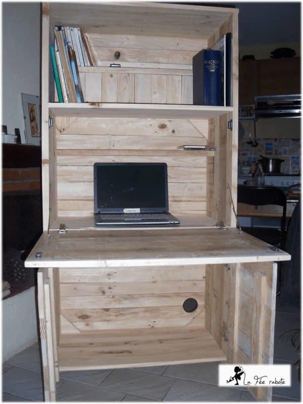 Pallets Secretary Pallet Cabinets & Wardrobes