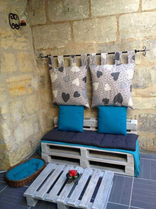 Terrace Cosy Corner Made Out Of Pallets Lounges & Garden Sets