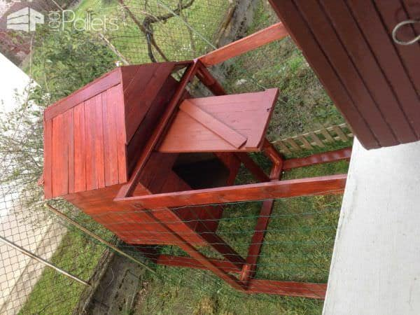 Handmade Chicken Coop With Recycled Pallets Animal Pallet Houses & Pallet Supplies