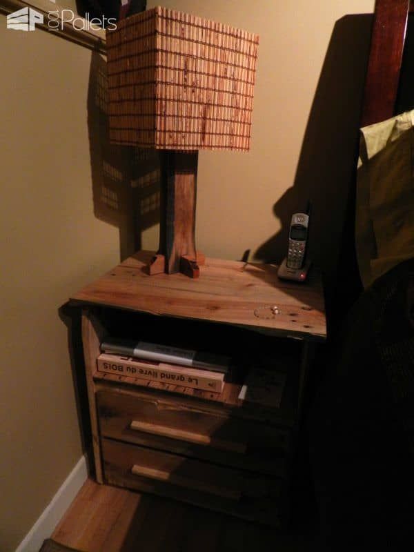 Lampe En Bois Recyclé / Lamp Made From Recycled Pallet Wood Pallet Lamps & Lights