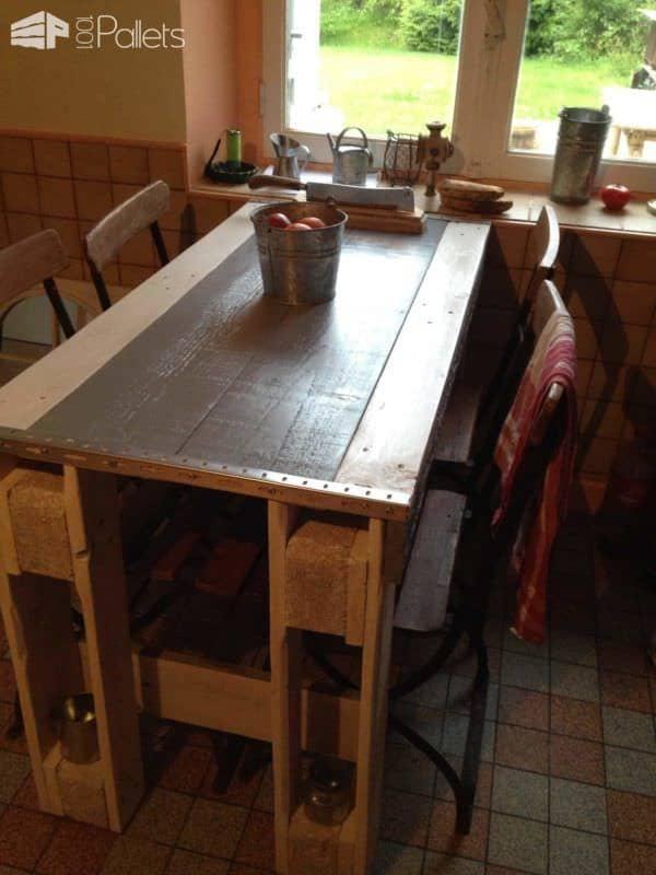 Pallet Kitchen Table Pallet Desks & Pallet Tables