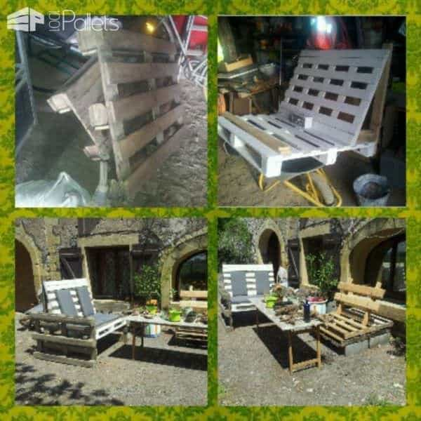 The Use Of Wooden Pallets For Garden Creations Lounges & Garden Sets