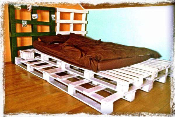 White Pallet Bed Pallet Beds, Pallet Headboards & Frames