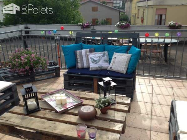 Aperitif On My Terrace: Wine, Sunset & Pallets ! Lounges & Garden Sets