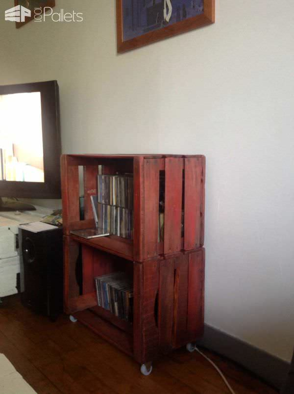 Furniture From Upcycled Wooden Crates Pallet Cabinets & Wardrobes