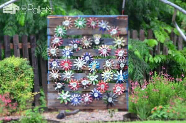 Garden Art – Skid Can Jump Other Pallet Projects Pallets in the Garden