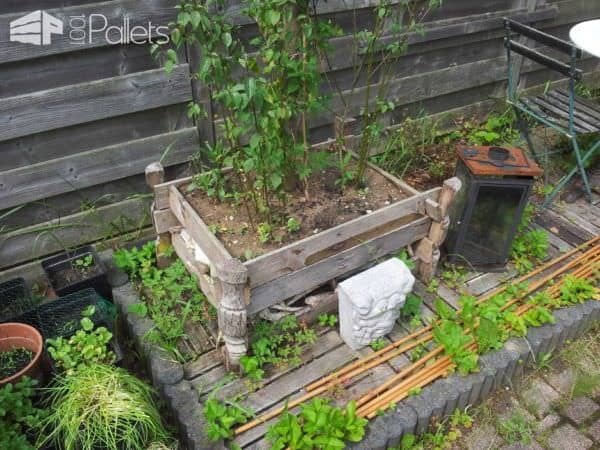 Garden Art With Recycled Pallets Pallet Desks & Pallet Tables Pallet Planters & Compost Bins