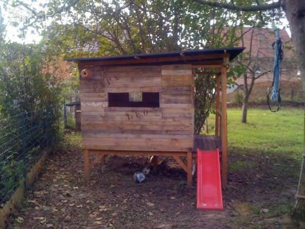Kids Playhouse Made Out Of Pallets Fun Pallet Crafts for Kids Pallet Sheds, Cabins, Huts & Playhouses