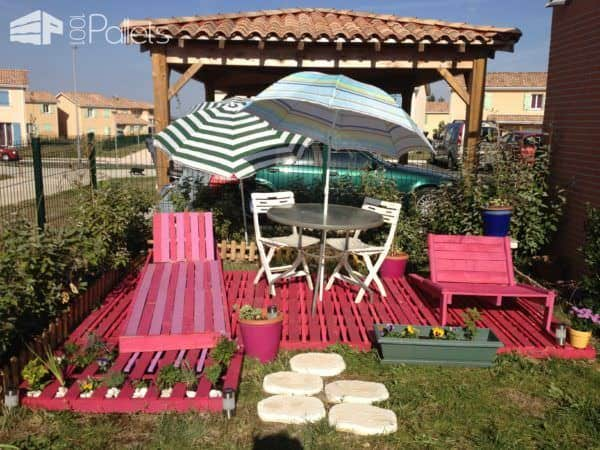 My Pink Pallet Terrace Lounges & Garden Sets