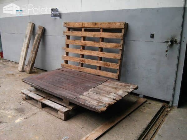 Outdoor Pallet Bench / Banc De Palets Pallet Benches, Pallet Chairs & Stools