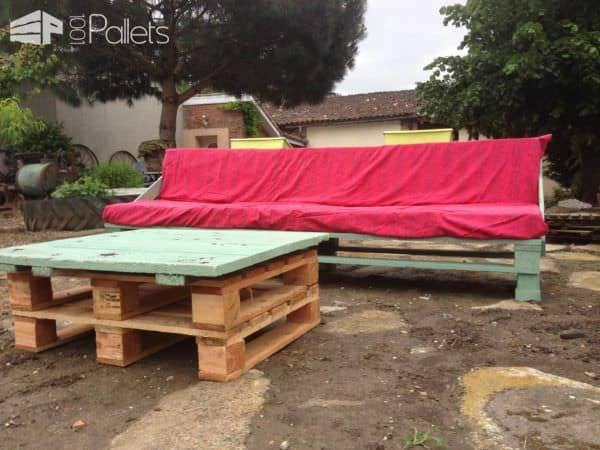 Pallet Garden Set (Sofa + Coffee Table) Pallet Coffee Tables Pallet Sofas & Couches Pallets in the Garden