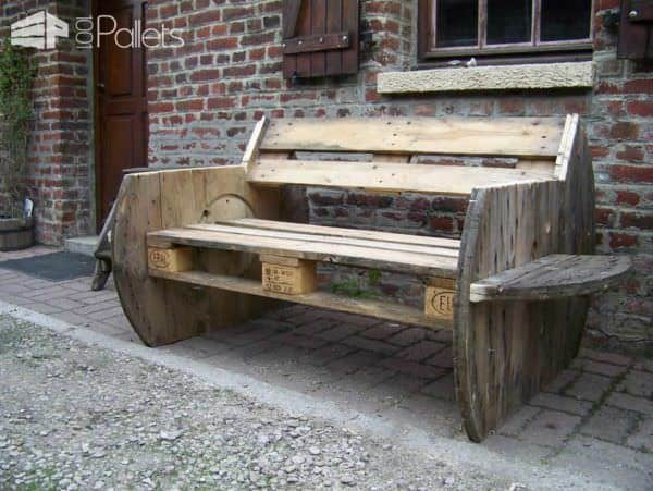 Pallet Outdoor Sofa Lounges & Garden Sets Pallet Benches, Pallet Chairs & Stools