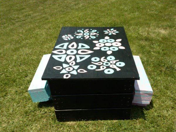 Pallet Picnic Table Fun Pallet Crafts for Kids Pallet Desks & Pallet Tables