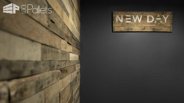 Photography + Film Studio Made Out Of Wooden Pallets Pallet Walls & Pallet Doors