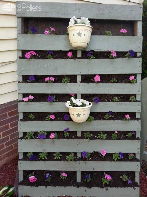 Standing Vertical Garden Pallet Planters & Compost Bins