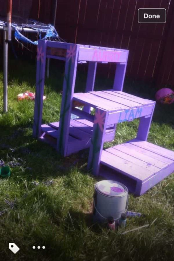 Trampoline Stair From Recycled Pallets Pallet Staircases