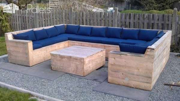 U Garden Set Made Out Of Repurposed Pallets Lounges & Garden Sets Pallet Sofas & Couches