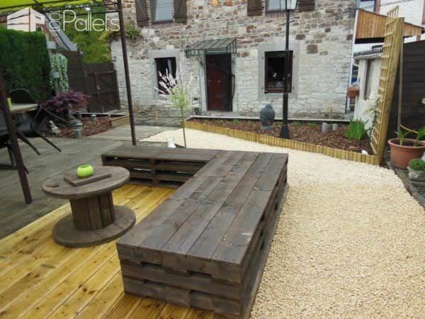 Zen Garden With Repurposed Pallets Pallet Fences Pallet Sofas & Couches